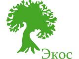 """Логотип """"Экос"""" Остекление балконов и установка пластиковых окон"""